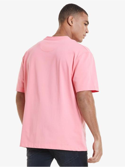 Sik Silk T-Shirt Drop Shoulder Relaxed Fit magenta