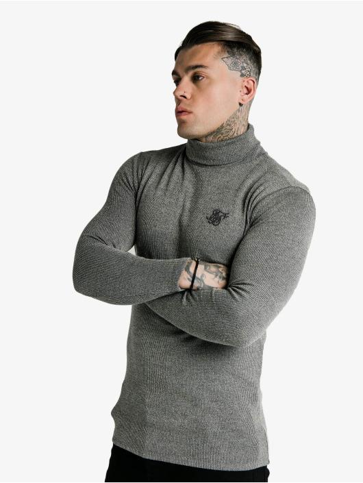 Sik Silk T-Shirt manches longues Rib Turtle Neck gris