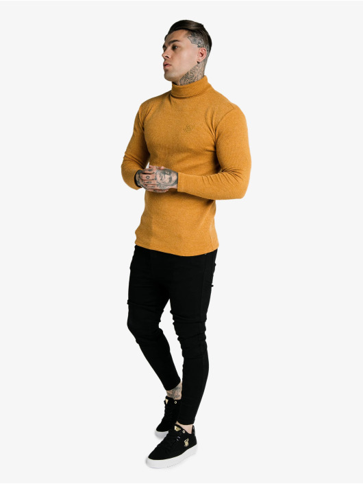 Sik Silk T-Shirt manches longues Rib Turtle Neck jaune