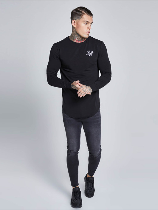 Sik Silk T-Shirt manches longues Gym noir