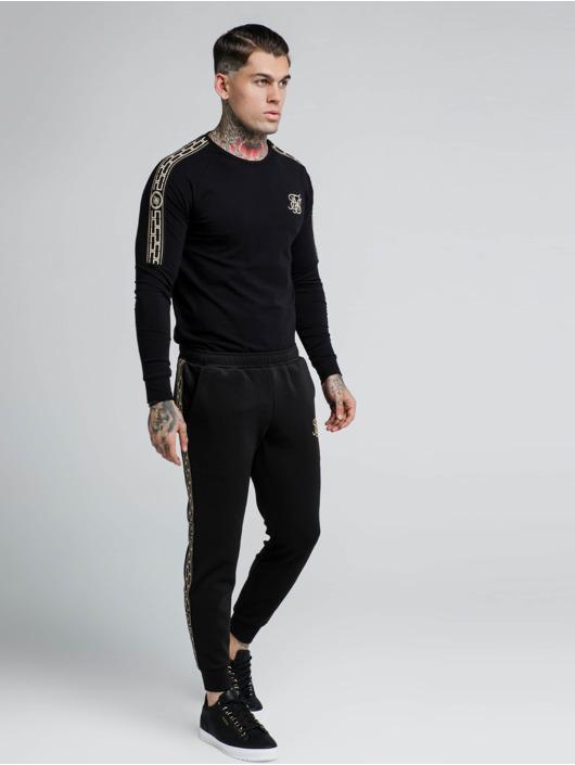Sik Silk T-Shirt manches longues Cartel Gym noir