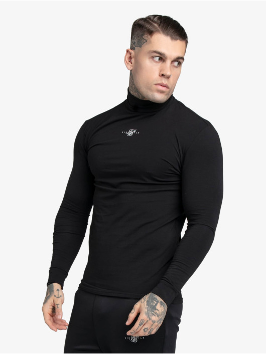 Sik Silk T-Shirt manches longues Tranquil Turtle Neck noir