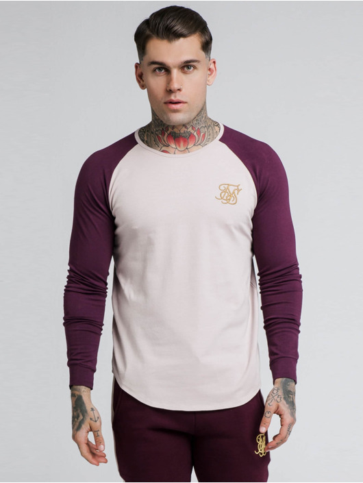 Sik Silk T-Shirt manches longues Raglan Gym rouge