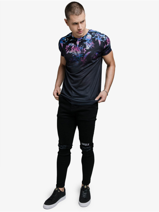 Sik Silk T-shirt Hawaii High Fade nero