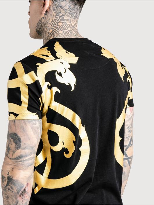 Sik Silk T-Shirt Reverse Collar noir
