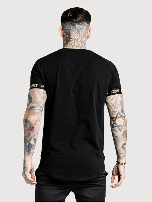 Sik Silk T-Shirt Golden Reflect Raglan Tech noir