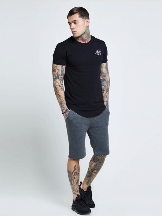 Sik Silk T-Shirt Short Sleeve Gym noir