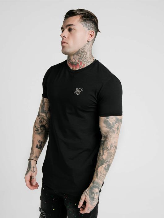Sik Silk T-Shirt Straight Hem Gym noir