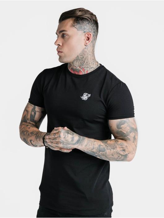 Sik Silk T-Shirt Hem Gym noir