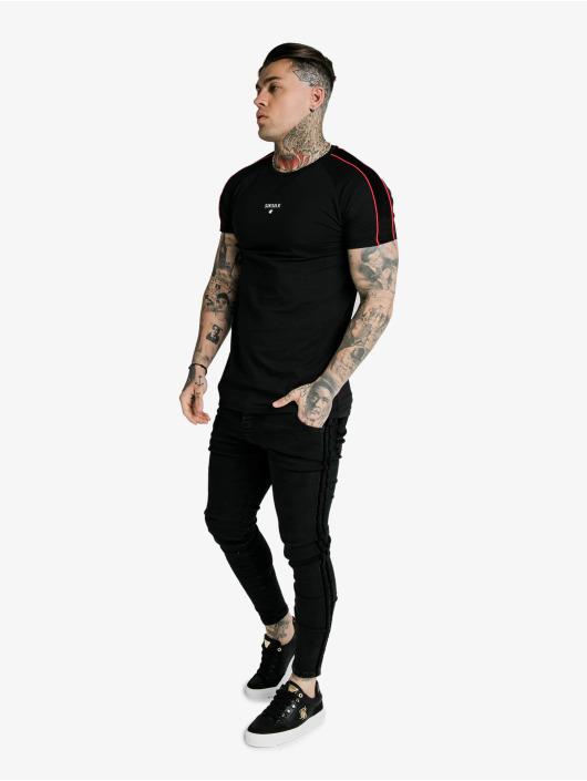 Sik Silk T-Shirt Imperial Raglan Gym noir
