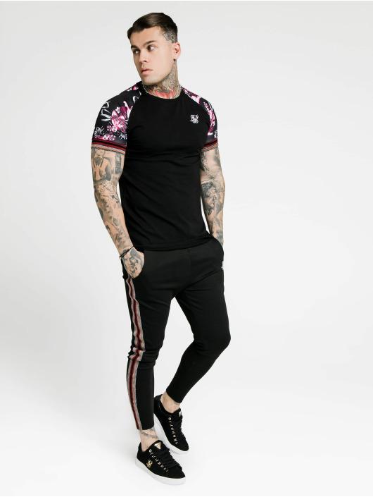 Sik Silk T-Shirt Raglan Gym noir