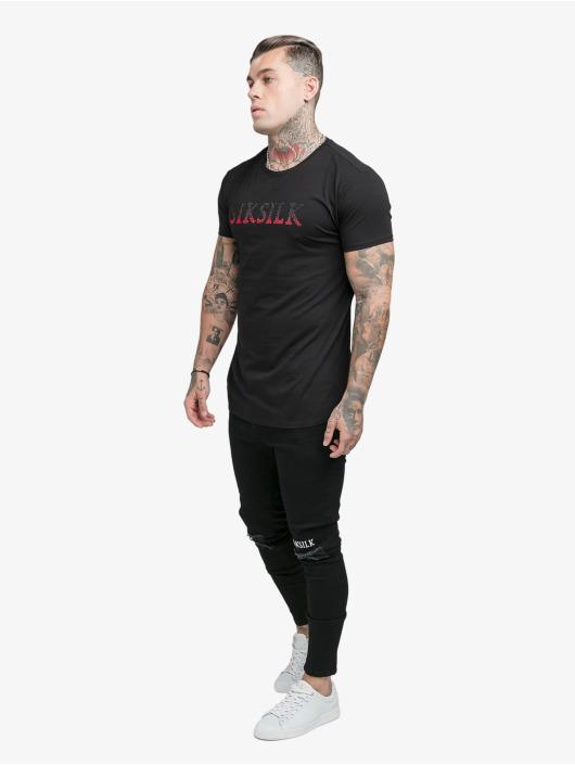 Sik Silk T-Shirt Rhinestone noir