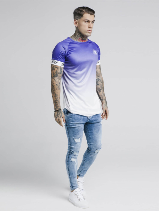 Sik Silk T-Shirt Raglan Fade Tech purple