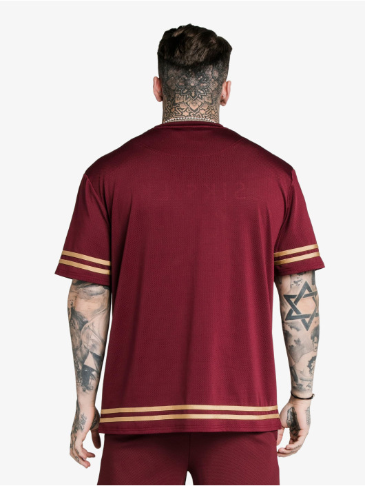 Sik Silk T-Shirt Signature Eyelet Essential Oversized rot