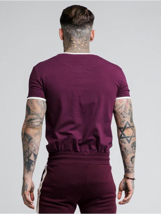 Sik Silk T-Shirt Ringer Gym rouge