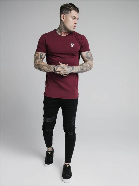 Sik Silk T-Shirt Hem Gym rouge