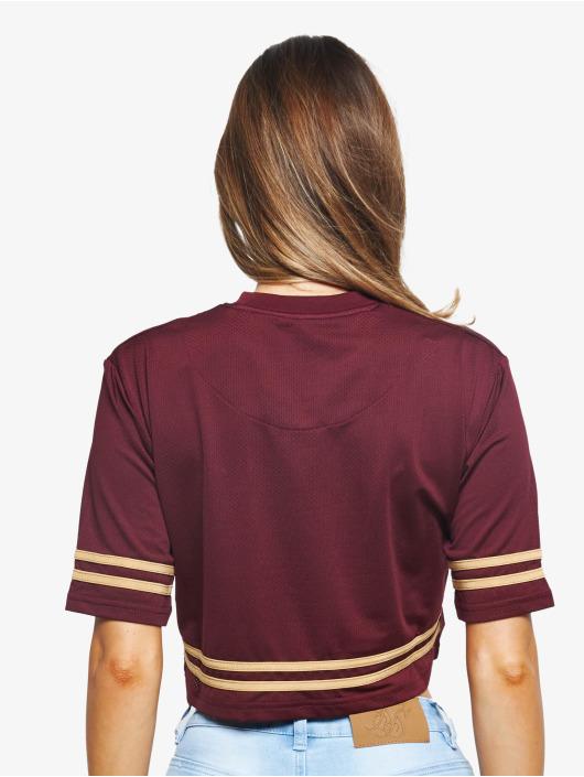 Sik Silk T-Shirt Mesh Crop rouge