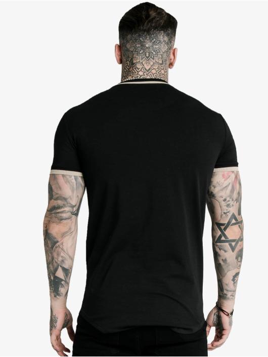 Sik Silk T-Shirt Yarn Rib schwarz