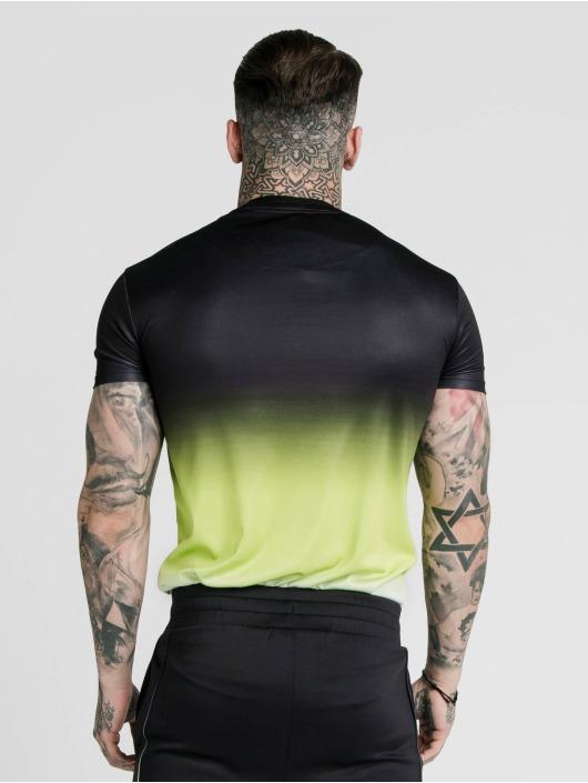 Sik Silk T-Shirt Tri Fade Tape Collar schwarz