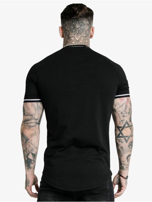Sik Silk T-Shirt Signature Piped Tech schwarz