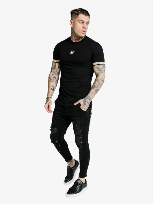 Sik Silk T-Shirt Premium Tape Gym schwarz