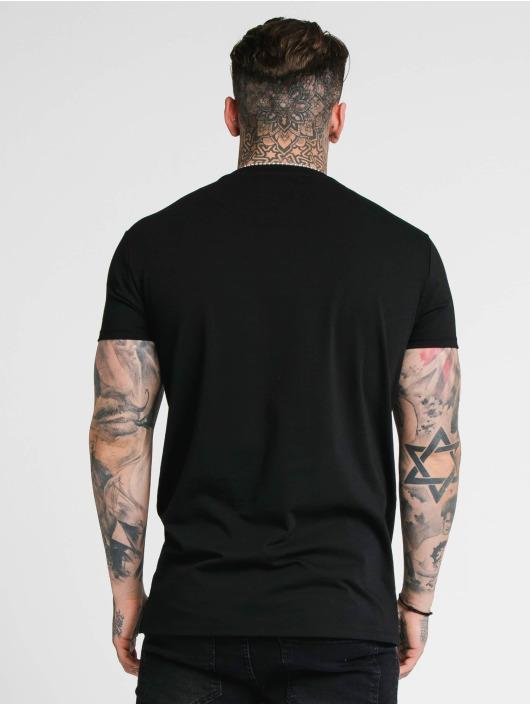 Sik Silk T-Shirt Rhinestone Lion schwarz