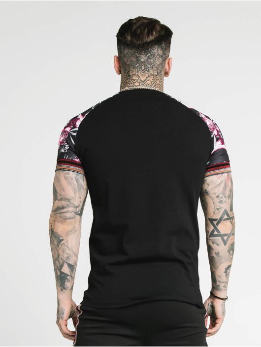 Sik Silk T-Shirt Raglan Gym schwarz