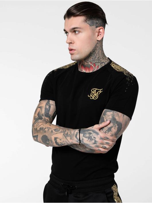 Sik Silk T-shirt Raglan Foil Fade Gym svart