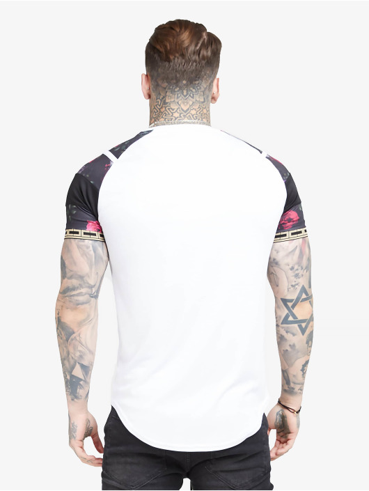 Sik Silk T-Shirt Raglan Sprint Tape weiß