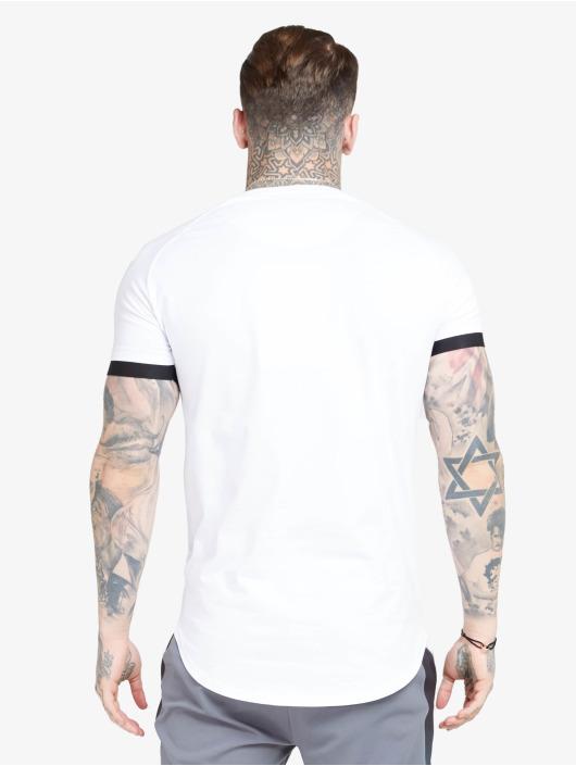 Sik Silk T-Shirt Inset Cuff Fade Panel Tech weiß