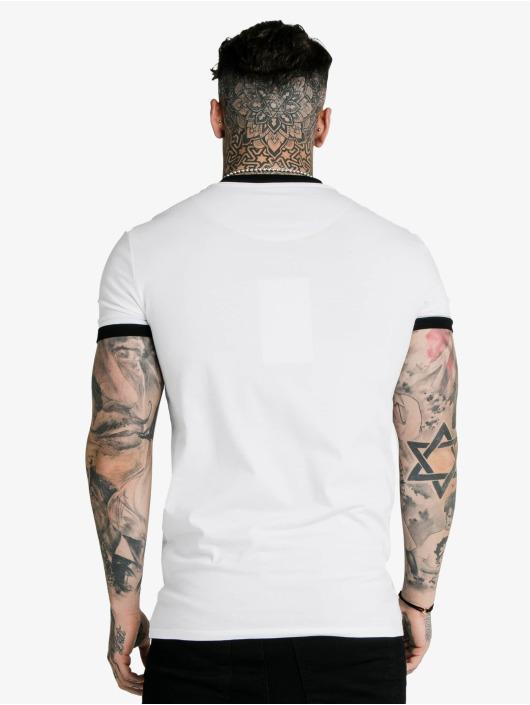 Sik Silk T-Shirt Hem Gym weiß