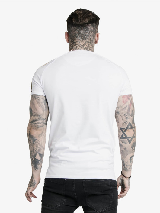 Sik Silk T-Shirt S/S Astro Raglan Gym weiß