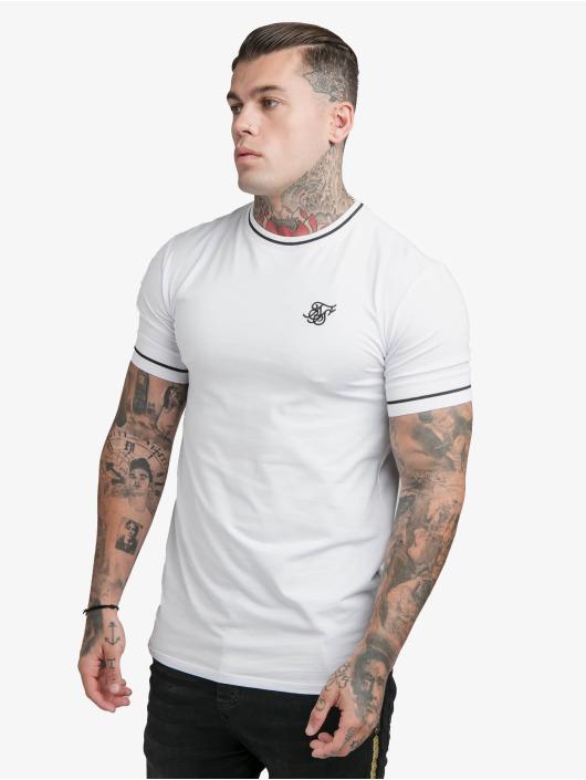 Sik Silk T-Shirt Imperial Retro Rib Gym weiß
