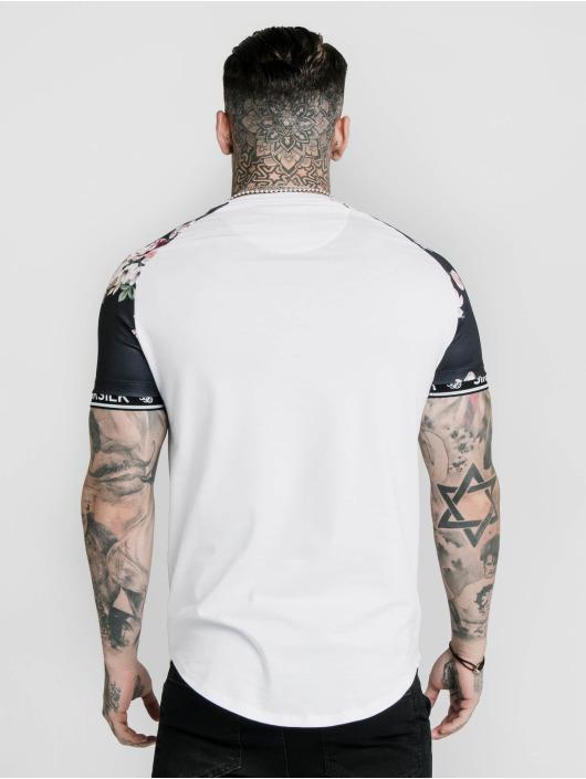 Sik Silk T-Shirt S/S Prestige Floral Inset Tech white