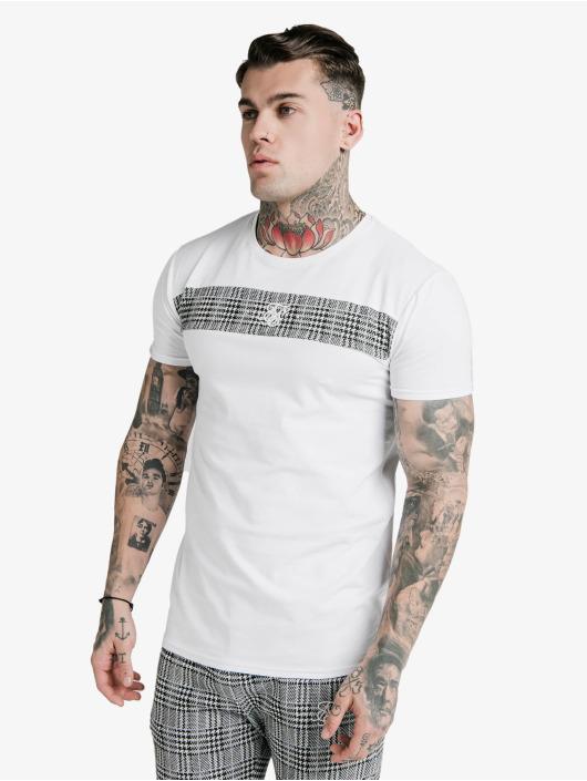 Sik Silk T-Shirt S/S Panel Smart white