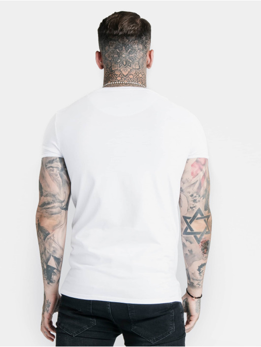 Sik Silk T-Shirt Hem Gym white