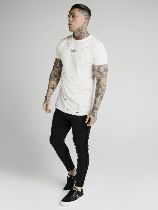 Sik Silk T-Shirt Distressed Box white
