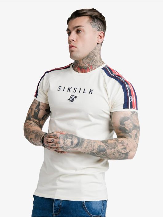 Sik Silk T-Shirt S/S Raglan Retro Tape Gym white