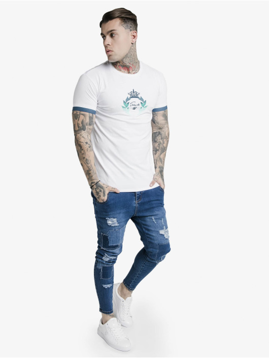 Sik Silk T-Shirt Fade Prestige Gym white