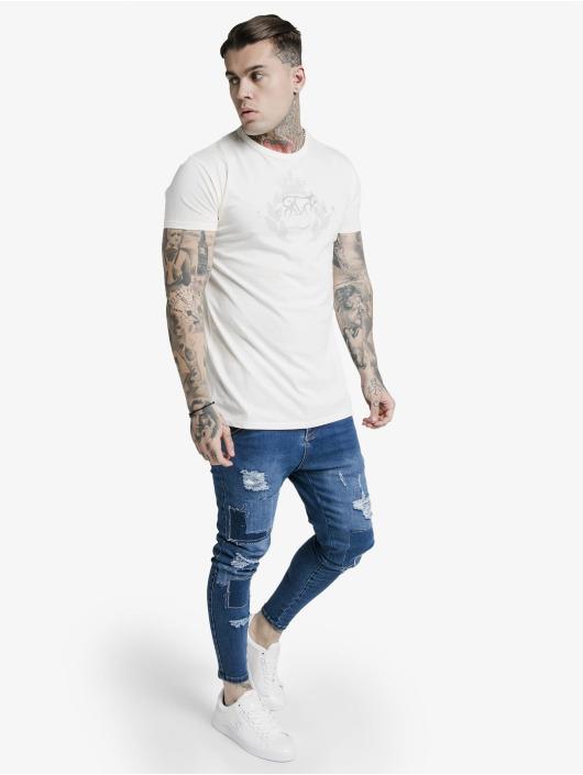 Sik Silk T-Shirt Fade Rhine Stone Box white