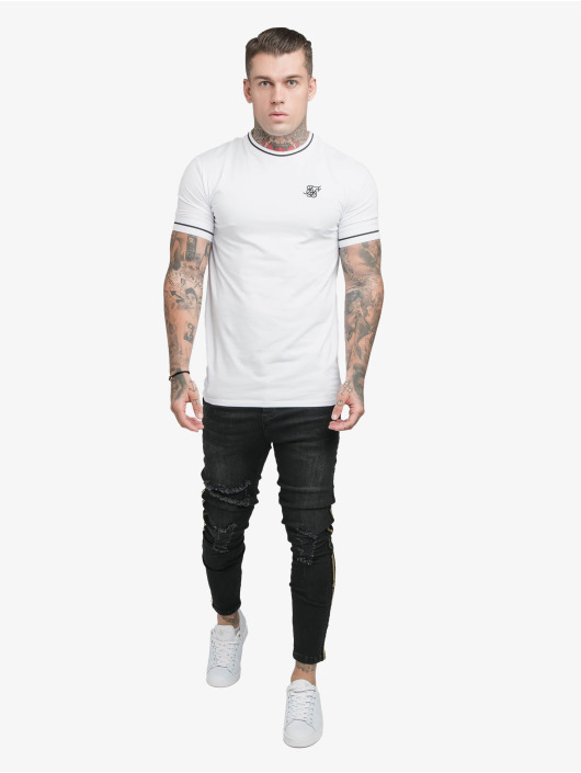Sik Silk T-Shirt Imperial Retro Rib Gym white