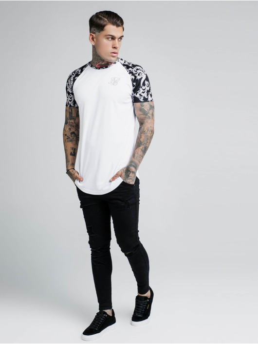 Sik Silk t-shirt Silvern Venetian Raglan wit