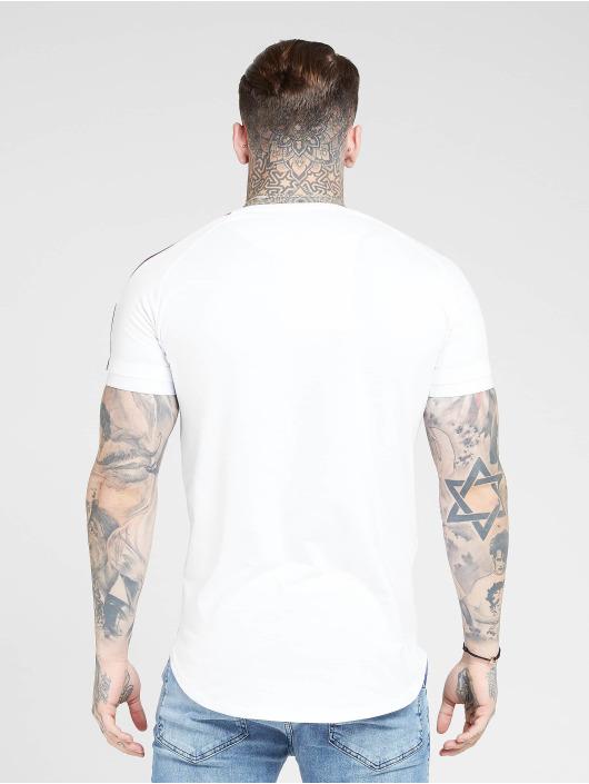 Sik Silk t-shirt Inset Cuff Fade Panel Tech wit