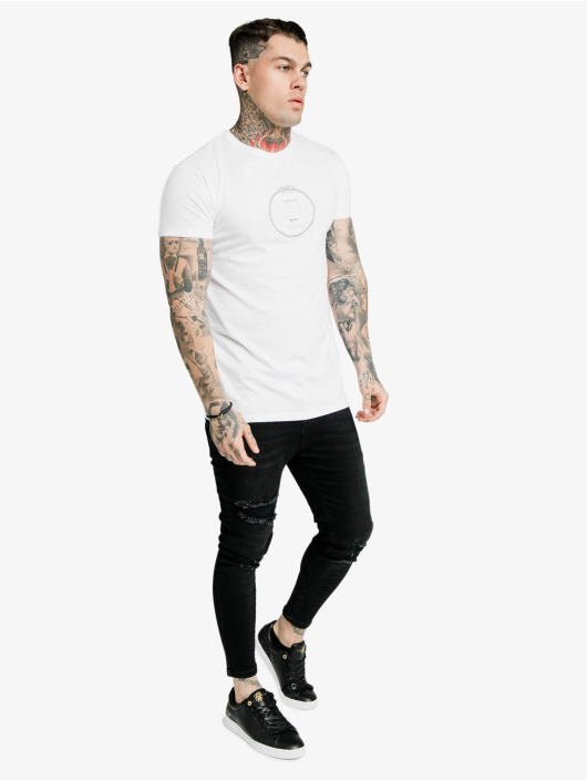 Sik Silk t-shirt Straight Hem Chain Print Box wit