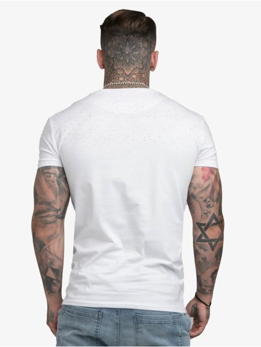 Sik Silk t-shirt Speckle Gym wit