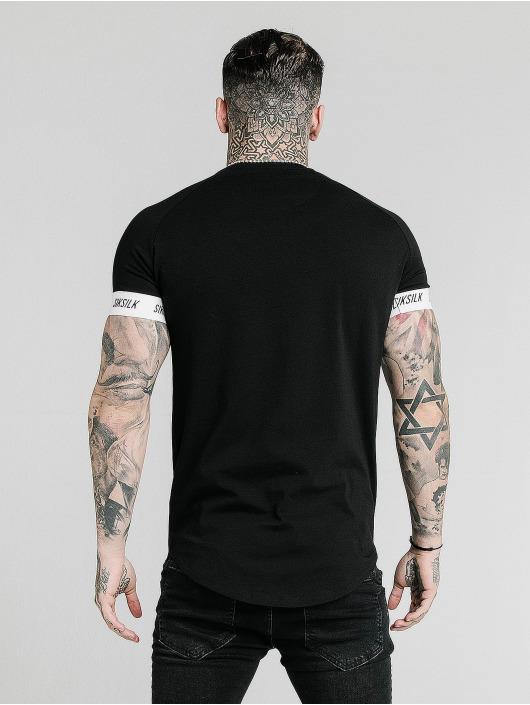 Sik Silk t-shirt Raglan Tech zwart