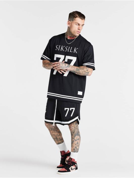 Sik Silk t-shirt Mesh Baseball zwart