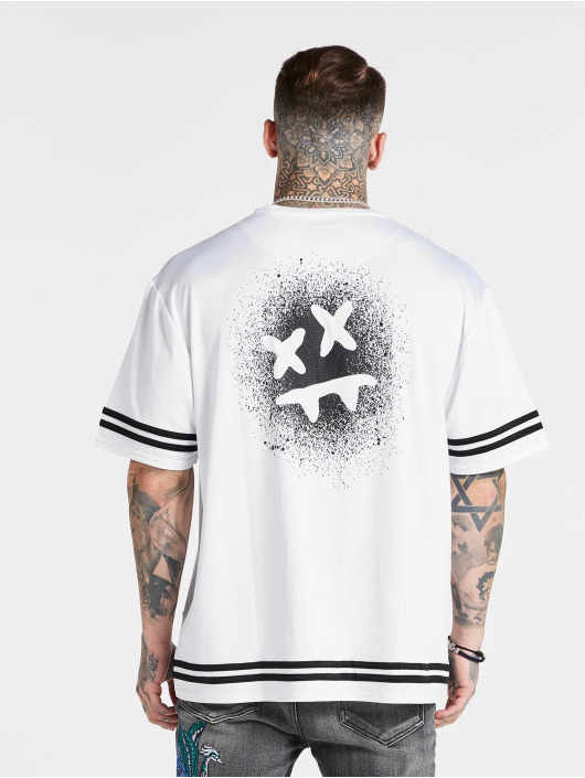 Sik Silk T-shirts Mesh Baseball hvid