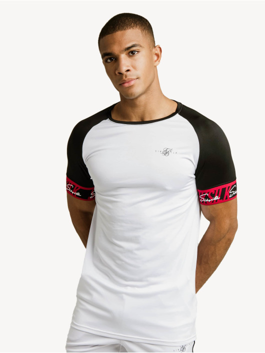 Sik Silk T-shirts Scope Tape Tech hvid