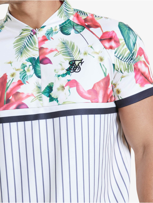 Sik Silk T-shirts Retro Tropics Baseball hvid